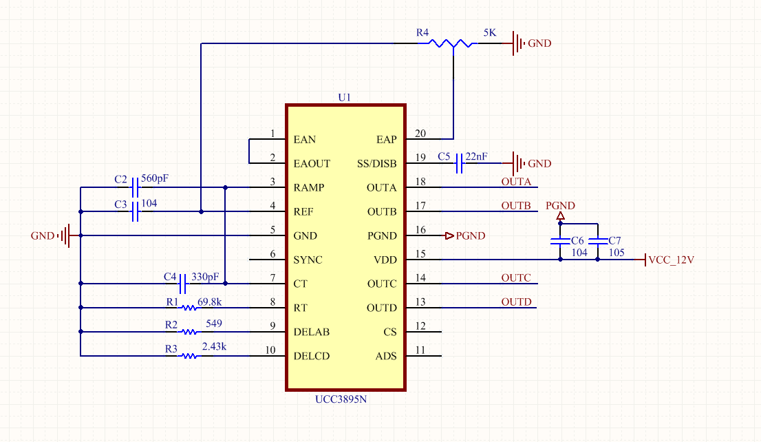 UCC3895的PWM輸出占空比沒有變化 - 電源管理 - 電源管理 - E2E™ 中文支持論壇