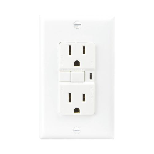 Eaton's Wiring Devices GFCI 15A Receptacle w/WP, White at