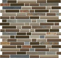 "Phase Mosaics Stone and Glass Wall Tile 5/8"" Random at"