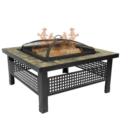 "Backyard Creations Sienna 34"" Slate Top Fire Pit at Menards"