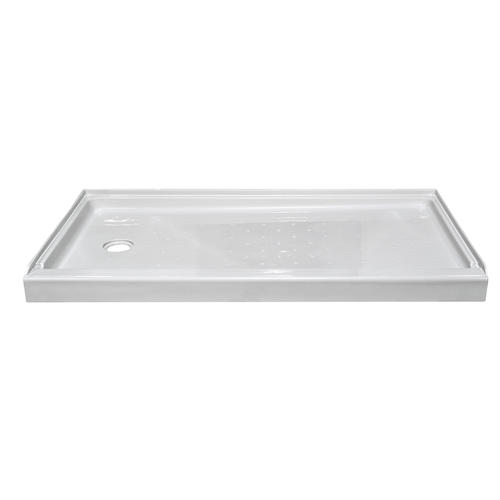 "Lyons Elite 60"" x 32"" Shower Base (Left Hand Drain) at"