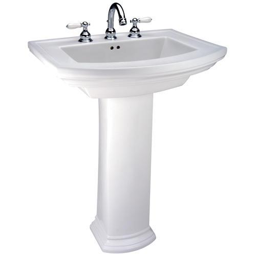 Mansfield Barrett Pedestal Bathroom Sink  4 Faucet Center at Menards