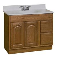 "Pace King James Series 36"" x 18"" Vanity with Drawers on ..."