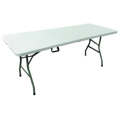 6' Long Rectangular Resin Foldinhalf Banquet Table At