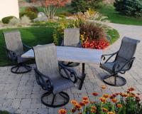 Backyard Creations 5-Piece Boulder Creek Dining Collection ...