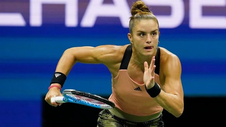 Maria Sakkari had to chase the match from the start Pic: AP