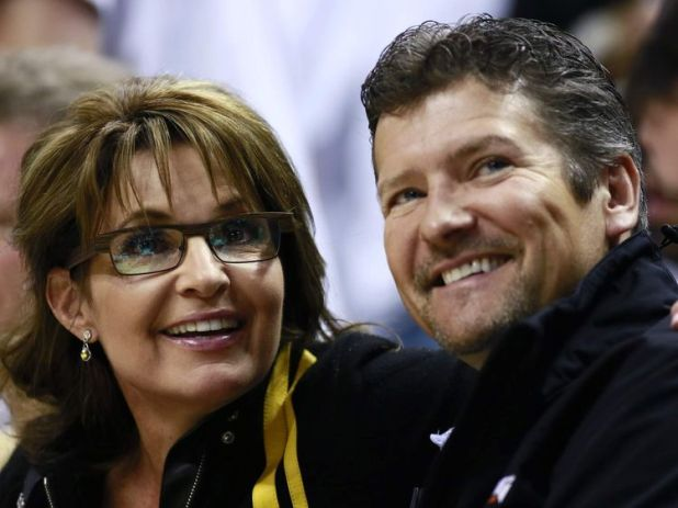 Sarah Palin and her husband Todd in Indianapolis, Indiana, on May 26, 2013
