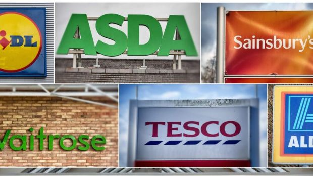 Leading UK Supermarkets Compete For Their Share Of The Market In The Run Up To Christmas