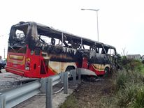 All 16 people on board the coach died after it caught fire