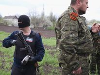 Pro-Russian militants as tensions mount in Ukraine