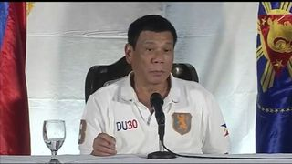 Rodrigo Duterte speaking against the UN after they criticised his anti-drugs policies  Philippines' Rodrigo Duterte vows to maintain 'relentless and chilling' war on drugs a44926981cfe2d162aa9d4cbc932ff27e2c1a06e008888a17018fa70a814265e 3769296