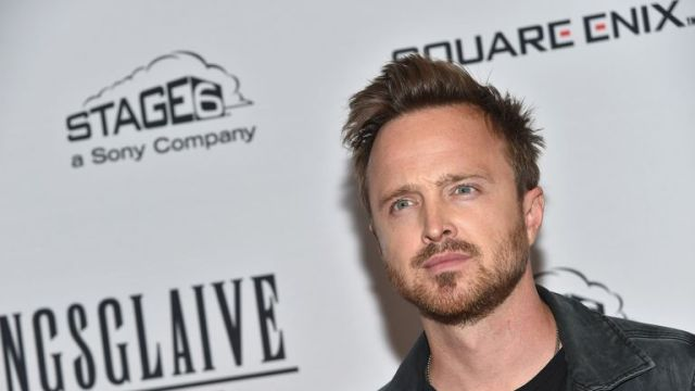 Aaron Paul attends the New York premiere of Kingsglaive: Final Fantasy XV