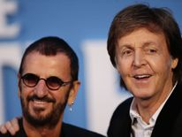 Ringo Starr and Paul McCartney at the London premiere of The Beatles: Eight Days A Week
