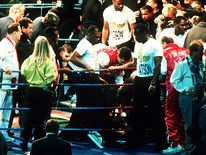 British boxer Michael Watson suffered a near-fatal head injury during a fight in 1991