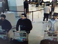CCTV footage of Brussels airport taken shortly before the March 2016 terror attack