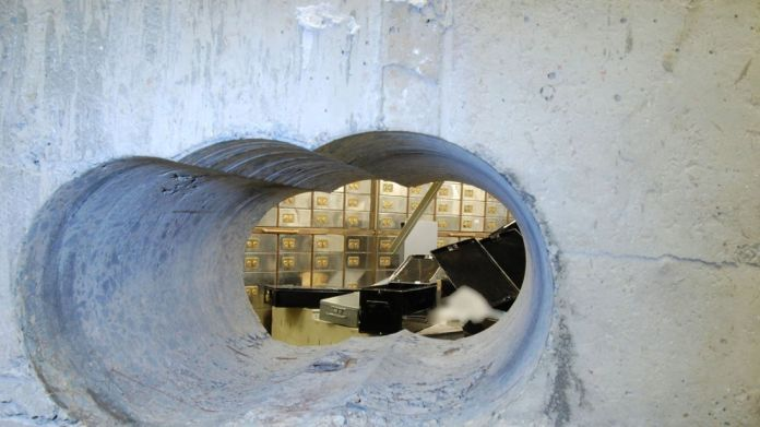 The vault at the Hatton Garden Safe Deposit company in London