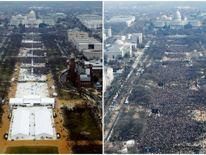 National Mall on January 20, 2017 and January 20, 2009, in Washington