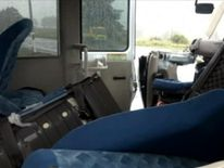 Images from inside the bus show seats were flung around in the crash