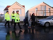 Police officers in Jaywick