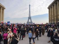 Women protest in Paris