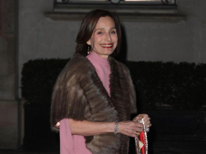 British actress Kristin Scott Thomas arrives for the dinner