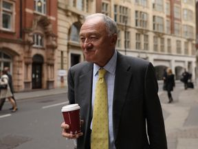 Former Labour Mayor of London, Ken Livingstone arrives at Church House on April 4, 2017 in London, England