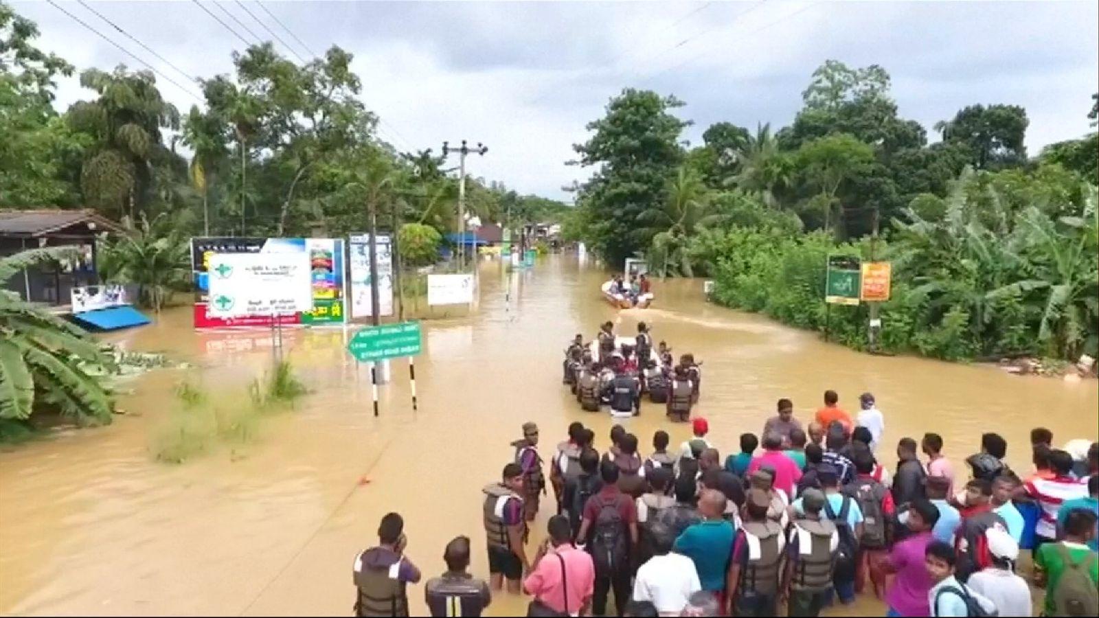 Sri Lanka floods have left half a million people displaced