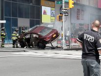 Emergency services at the scene in New York
