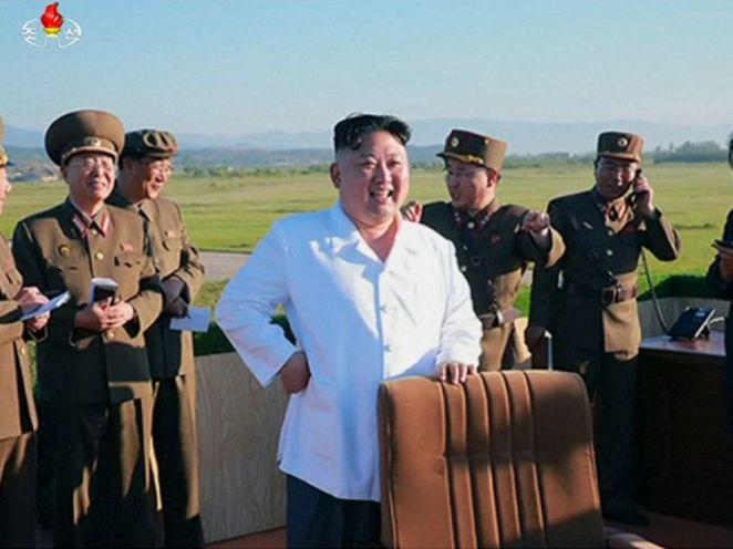 Kim Jong Un's mood was brightened after the test in sunny North Korea