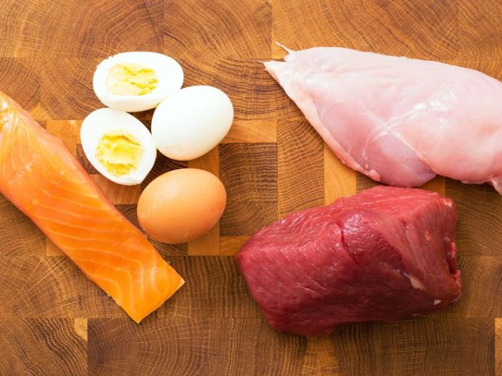 Meat, fish and eggs