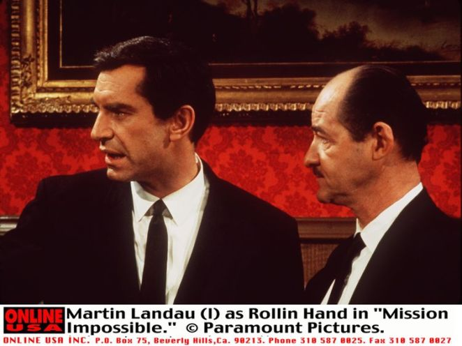 Martin Landau (left) in the TV series Mission Impossible