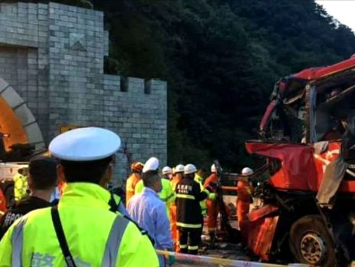 At least 36 people have died after a coach crashed into Qinling tunnel, northern China At least 36 dead after coach smashes into tunnel wall in China At least 36 dead after coach smashes into tunnel wall in China 24b327062f2f9f5d363b25ad126e04c9b313ca70450cd21c263718e7f48cc39b 4070658