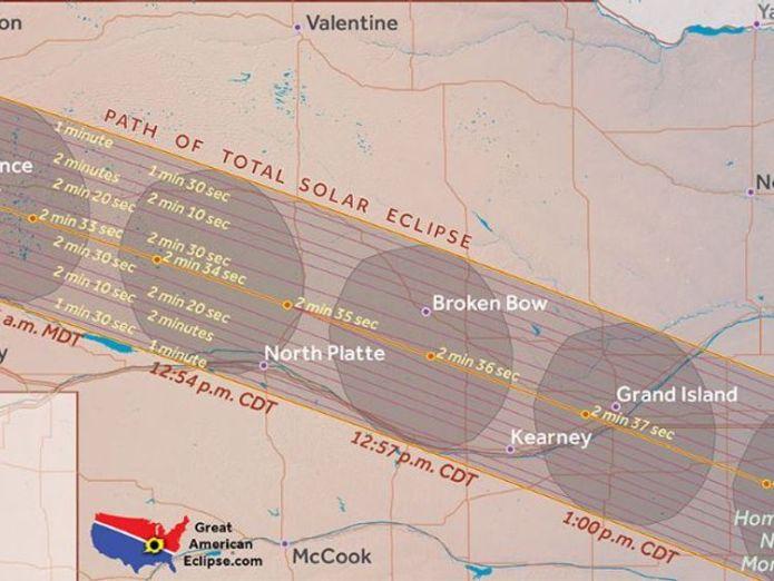 Nebraska. Pic: Great American Eclipse Where natural phenonemon will blot out the Sun Where natural phenonemon will blot out the Sun 369af1b3726bac677af14eca6b8a31244a1a65d0d35c74d59039b3eeb4d68474 4074379