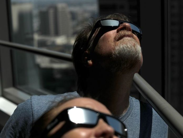 Shortages of solar eclipse sunglasses have been reported in some US cities Solar spectacle 'will be like looking at other world's sky' Solar spectacle 'will be like looking at other world's sky' 5b26dc49262be6d89650dc61d7b0cc44b5d30c850f0d61a37ad9d441adda59d4 4075215