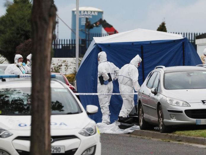 The forensic team at the scene of the crime Mother-of-six and friend gunned down in family home in Dublin Mother-of-six and friend gunned down in family home in Dublin 621b051cc37558d13f2f10bb27698e6e01298549fed91f5e68cf4c186733f464 4075775