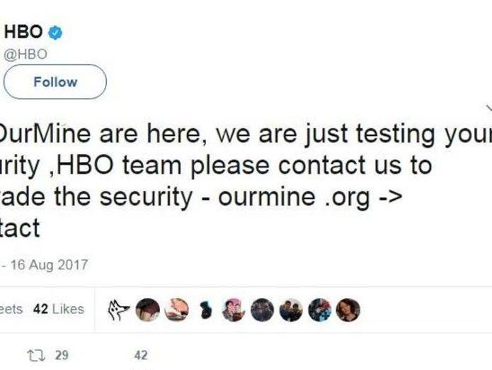 HBO Tweet HBO investigating Twitter hack in latest cyber breach HBO investigating Twitter hack in latest cyber breach adc352dd8b709e73eed9d3ac3eb7c8b9b95c99d58cc7e36d57bb4963b3a6e72e 4075697