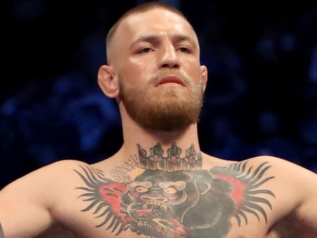 LAS VEGAS, NV - AUGUST 26:  Conor McGregor stands in his corner during his super welterweight boxing match against Floyd Mayweather Jr. on August 26, 2017