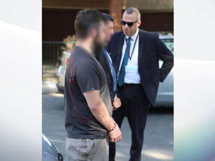 Police stand with the British man after he is arrested in Sydney. Pic: NSW Police Briton held for 'grooming girl' after sting operation in Australia Briton held for 'grooming girl' after sting operation in Australia d40bb7ea83122ebbebc1273ec78b3a55768591176979f45cbcc6d67d87a50d12 4071702