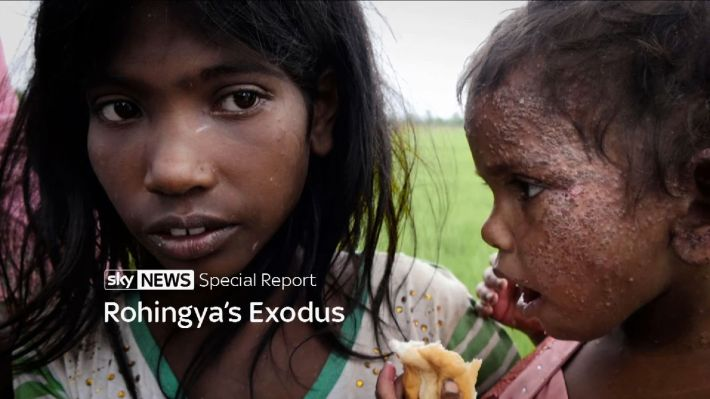 Rohingya child refugees (special title).