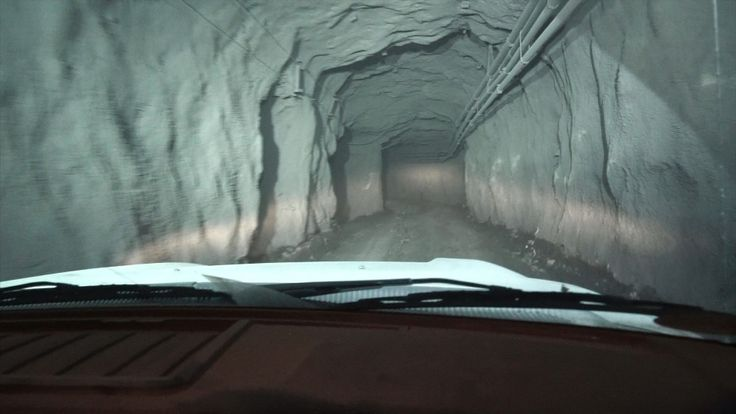 The tunnels in the mine are wide enough for trucks