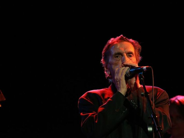 Actor Harry Dean Stanton performs at the Amoeba Music Spring Tour