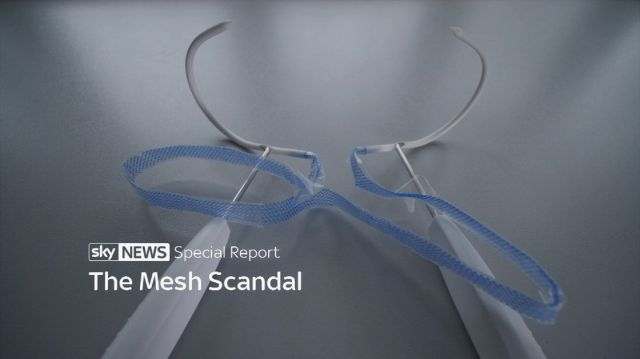 Titles screen for mesh scandal special report.