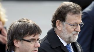 Mariano Rajoy (right) and Carles Puigdemont pictured last year Pedro Sanchez sworn in as Spanish PM amid corruption scandal Pedro Sanchez sworn in as Spanish PM amid corruption scandal skynews carles puigdemont mariano rajoy 4141464