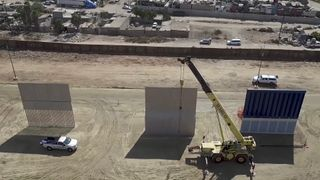 Competing designs for President Trump's Mexico wall