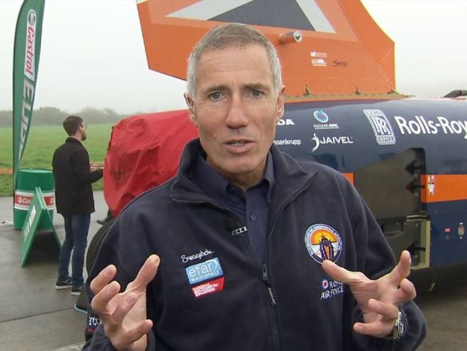 The man behind the wheel of supersonic car. Andy Green gives us a closer look at the bloodhound SSC.