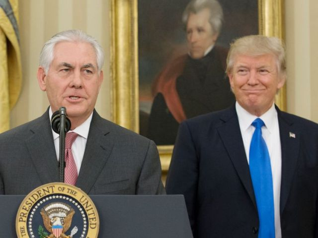 Donald Trump is sure he'd win an IQ test comparison with Secretary of State Rex Tillerson