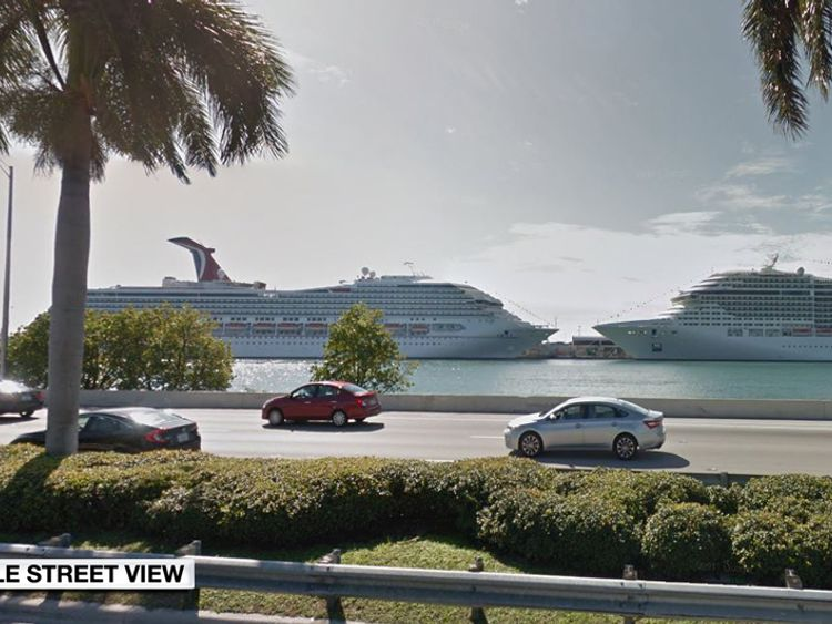Cruise ships docked at PortMiami