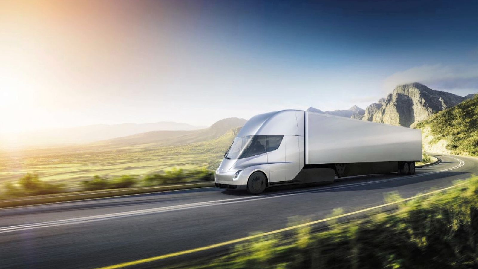 Car In Space Wallpaper Elon Musk Elon Musk Unveils Tesla Semi Electric Truck In Latest