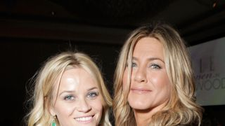 The two friends pictured in 2011 at the Elle Annual Women in Hollywood tribute  Video shows Harvey Weinstein behaving inappropriately with businesswoman skynews reese witherspoon jennifer aniston 4150962