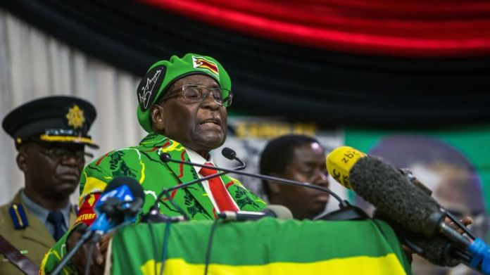 imbabwe's President Robert Mugabe delivers a speech during a meeting of his party's youth league where he hinted at a cabinet reshuffle, on October 7, 2017, in Harare  A modern history of a nation skynews mugabe robert president 4167384